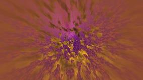 Abstrakt violett bakgrund med guld- rörelsestrålar lager videofilmer
