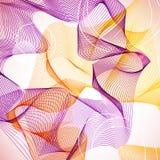 Abstrakt violett och orange guillochebakgrund Arkivbilder