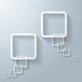 Abstrakt vit anförandebubbla för rektangel två stock illustrationer