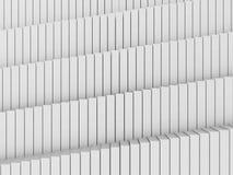 Abstrakt vit bakgrund för kubmodellarkitektur Royaltyfria Bilder