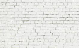 Abstrakt vit bakgrund för tegelstenvägg Arkivbilder