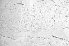 Abstrakt vit bakgrund med sprickor i målarfärgen textur Horisontalramen Fotografering för Bildbyråer