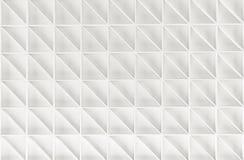 Abstrakt vit geometrisk bakgrund 3d framför Royaltyfria Foton