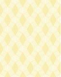 Abstrakt vit linje sömlös modell på guling Royaltyfria Bilder