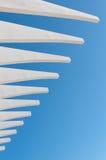 Abstrakt vit- och blåttarkitektur, Malaga Arkivfoton