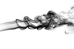 Abstrakt vit rök på svart bakgrund Arkivbilder