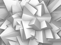 Abstrakt vit skära i tärningar väggbakgrund Arkivbild