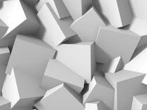 Abstrakt vit skära i tärningar väggbakgrund Royaltyfri Bild