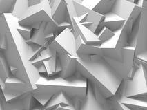 Abstrakt vit skära i tärningar väggbakgrund Fotografering för Bildbyråer