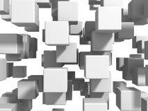 Abstrakt vit skära i tärningar väggbakgrund Royaltyfri Foto