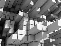 Abstrakt vit skära i tärningar väggbakgrund Arkivfoton