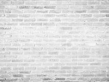 Abstrakt vit tegelstentexturbakgrund: tomt inre rum Arkivbilder