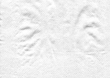 Abstrakt vit texturbakgrund med textilen Arkivbilder