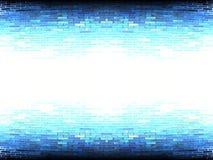 Abstrakt vitt mörker - blå vägg Royaltyfri Fotografi