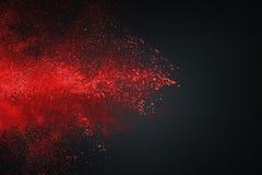 Abstrakt vitt rött mot mörk bakgrund Arkivbild