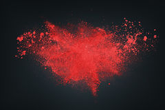 Abstrakt vitt rött mot mörk bakgrund Royaltyfria Foton