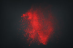 Abstrakt vitt rött mot mörk bakgrund Royaltyfri Foto