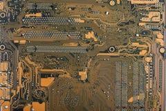 Abstrakt w górę techniki nauki tła Obwód deska, elektronika zdjęcia stock