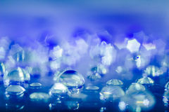 Abstrakt Waterdrops Closeupbakgrund Royaltyfri Bild