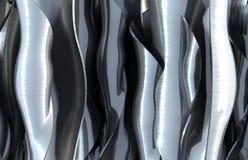 abstrakt wavy bakgrundsmetall Royaltyfri Fotografi