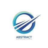 Abstrakt - wektorowa biznesowa loga pojęcia ilustracja Barwiony pierścionek z kształtami Pozytywny geometryczny podpisuje wewnątr ilustracji