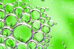 Abstrakt wody i oleju bąble Fotografia Royalty Free