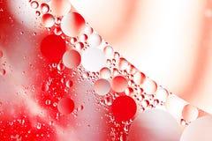 Abstrakt wody i oleju bąble Obrazy Royalty Free