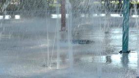 Abstrakt wody pluśnięcia porada fontanna zdjęcie wideo