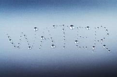 Abstrakt wody słowo Obrazy Stock