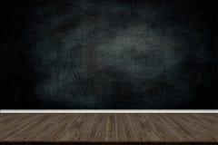 Abstrakt wood golvtextur och krita gned ut på svart tavla Fotografering för Bildbyråer