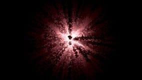 Abstrakt wyginający się wykłada podesłanie od białego rozjarzonego centrum wszystkie strony na czarnym tle animacja Abstrakt ilustracja wektor