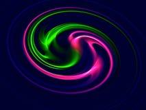 Abstrakt yin-Yang symbol - digitalt frambragd bild vektor illustrationer