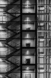 Abstrakt yttersida av modern byggnad Royaltyfria Bilder