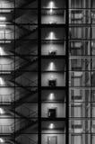 Abstrakt yttersida av modern byggnad Arkivfoto