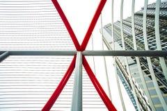 Abstrakt z liniami i czerwienią zdjęcia stock