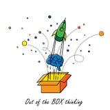 Abstrakt z pudełkowatego główkowania - wektorowa grafika Zdjęcie Stock