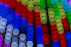 Abstrakt zamazująca bokeh tekstura od różnorodność światło okregów zaświeca fotografia royalty free