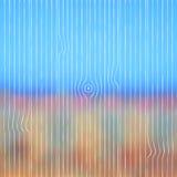 Abstrakt zamazujący krajobrazowy tło z drewnianym Zdjęcia Stock