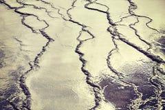 Abstrakt zamazujący tło robić wody powierzchnia Obrazy Royalty Free