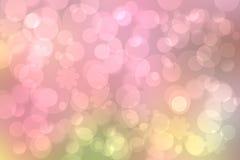 Abstrakt zamazywał żywego wiosny lata światła pastelowych menchii zieleni bokeh tła delikatną teksturę z jaskrawą miękką kolor wi ilustracja wektor