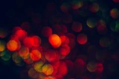 Abstrakt zamazywał błyskotliwego połysk, zieleń i czerwień, Fotografia Stock