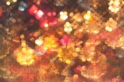 Abstrakt zamazywał kolorowi światła w bokeh tła Bożenarodzeniowej dyskotece Fotografia Royalty Free