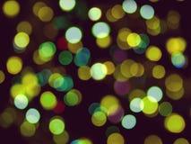 Abstrakt zamazywał tło dużo round zamazujący żółci światła obraz stock