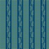 Abstrakt zasadza batikowego bezszwowego wzór Zdjęcie Stock