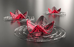 abstrakt zen för vatten för avstånd för bakgrundskopieringsliljar Arkivfoto