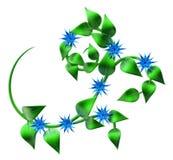 Abstrakt zieleni gałąź z liśćmi jako dekoracja Obraz Stock