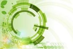 Abstrakt zieleni punktu sześciokąta ekologii technologii i biznesu bac