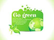 abstrakt zielona idzie ikona Obraz Stock