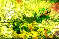 Abstrakt Zielony Abstrakt Fotografia Royalty Free
