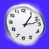 Abstrakt Zniekształcający czasu zegar fotografia royalty free
